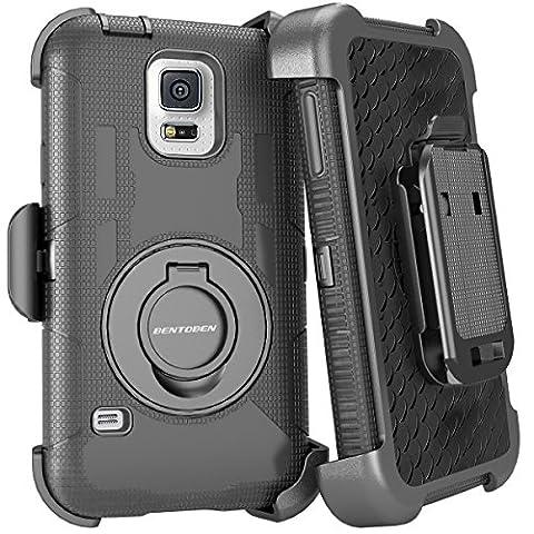 Galaxy S5 Case, BENTOBEN Heavy Duty Swivel Belt Clip Holster