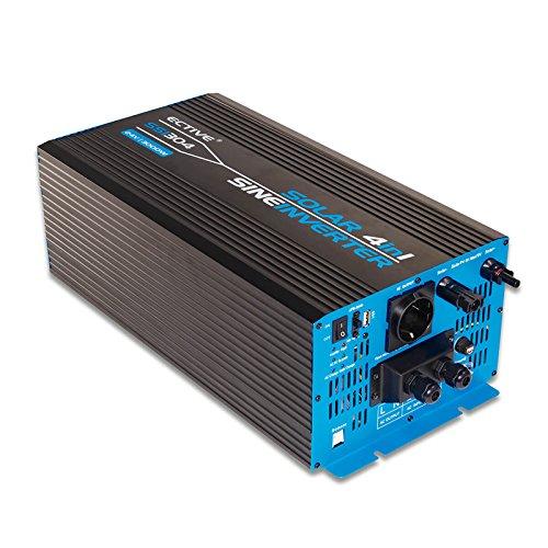 ECTIVE SSI-Serie | Sinus Wechselrichter mit Ladegerät, MPPT-Solarladeregler und NVS | 12V auf 230V | 5 Varianten: 1000W - 3000W | Reiner 12 Volt Spannungswandler DC zu AC Solar Batterie Inverter 12 V