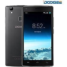 Smartphone Android, DOOGEE X5 MAX Dual SIM Telefonia Mobile - Quad Core Cellulari con Sensore di Impronte Digitali - 4000mAh 5 Pollici Schermo Telefono con 8.0 MP Fotocamera Digitale - 1GB RAM + 8GB ROM - Nero