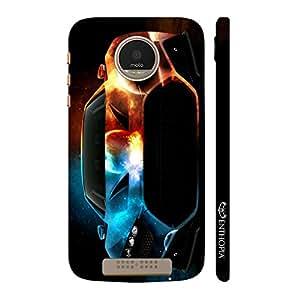 Enthopia Designer Hardshell Case Sizzling car Back Cover for Motorola Moto C