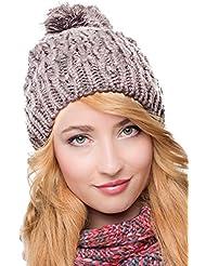 Belle POMPON Bonnet Chapeau d'hiver 2013/2014 261 chapeau à pompon (gris)