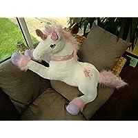 Girlie Paws Silky Soft Unicorns White Purple Pink Large Medium Small (Large, White)