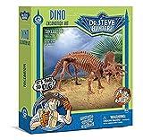 Geoworld 625268 - Dr. Steve Hunters: Dino Ausgrabungs-Set - Triceratops-Skelett, Alter: 6+, Größe: 21 cm