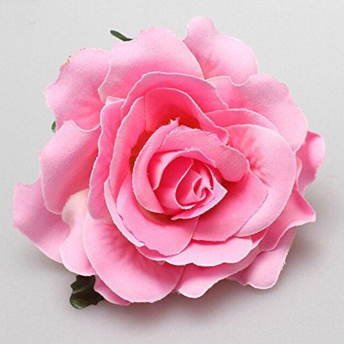 1X Haarblumen Haarblüten Haarschmuck Haarsprange Blumen Rose Blüten Damen Accessoires Haarschmuck viele Farben