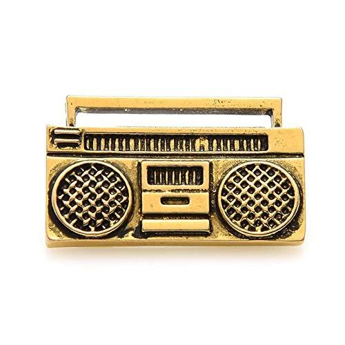 CCJIAC Vintage Retro Radio Recorder Brosche Pins Frauen Kostüme Musik Pins Schmuck