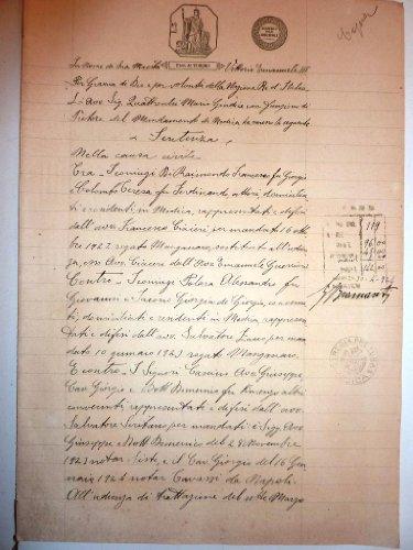 Pretura di Modica, Sentenza Causa Signori Raimondo di Giorgio contro i Signori Cascino. Modica 11 - 5 -1925