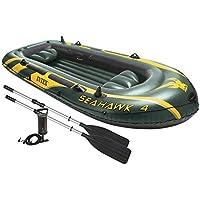 Intex - Barca hinchable Seahawk 4 y remos - 351 x 145 x 48 cm (68351) (modelo variable según imagen)