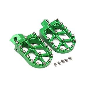 Kawasaki KDX200 KDX220 95-03 KDX250 KX125 KX250 91-96 KX500 91-03 CNC Foot Pegs Footpegs Foot Rests Foot Pedals
