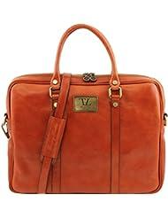 Tuscany Leather Prato - Elégante serviette pour portable en cuir