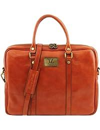 Tuscany Leather Prato - Elégante serviette pour portable en cuir Sacs à main en cuir