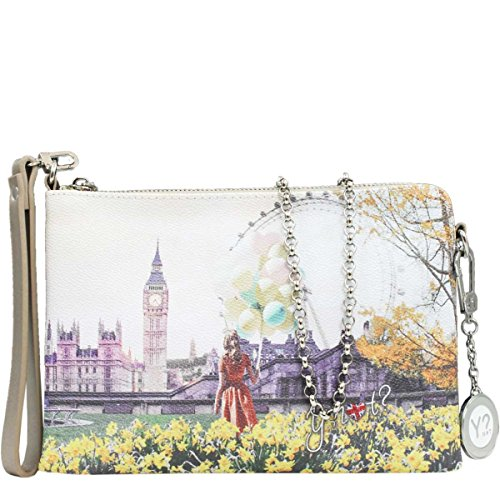 BORSA DONNA Y NOT  TRACOLLA POCHETTE FLOWER TOWER INSTANT J-384 25e1270989c
