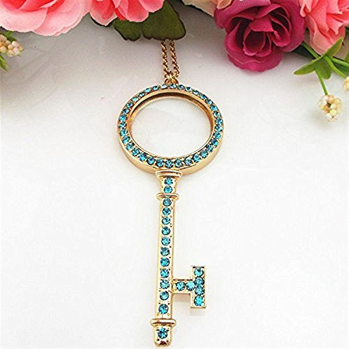 LED Handheld 5X Halskette Anhänger Mode schöne Lupe, als Geschenk für die Mutter Geeignet für Lesen, Büro, Identifikation, Jewe
