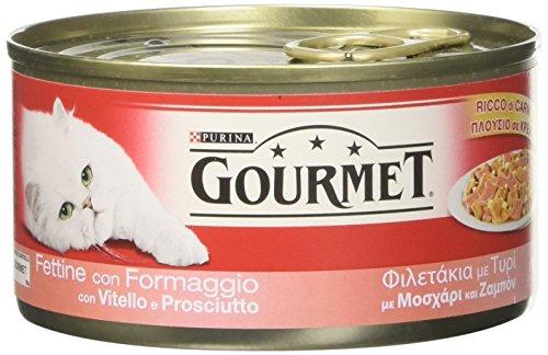 GOURMET ROSSO LATTINA 195 gr. fettine prosciutto vitello e formaggio umido gatto