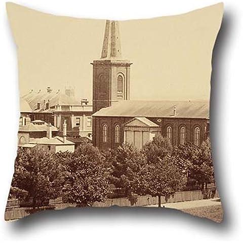 50,8x 50,8cm/da 50x 50cm pittura a olio John degotardi–St James della Chiesa, da Hyde Park, sydneyphotographic Views di Sydney e dintorni paese. NEW S Pillowcover, due lati, e Gif