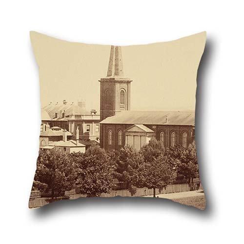 50,8x 50,8cm/da 50x 50cm pittura a olio John degotardi-St James della Chiesa, da Hyde Park, sydneyphotographic Views di Sydney e dintorni paese. NEW S Pillowcover, due lati, e Gif