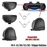 Botones Gatillos L1 L2 R1 R2 Recambios Para Mando Dualshock Playstation 4 Negros