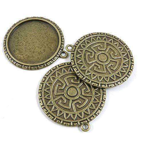 Schmuckanhänger I2FM8M Schild Cabochon-Rahmen, Antik-Bronzefarben antique bronze -