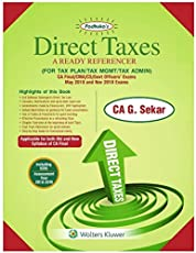 Padhuka's Direct Taxes - A Ready Referencer [for Tax Plan / Tax Mgmt / Tax Admin] ( New and Old Syllabus)