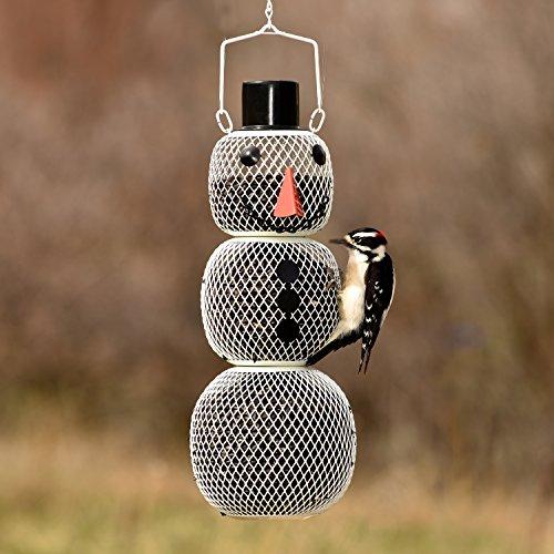 Perky-Pet Vogelfutterspender Schneemann / Vogelfuttersäule aus Metall / Winterliche Garten-Dekoration / Füllkapzität 1 kg / Mod. SM00345