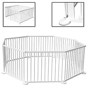Kiduku parc pour enfants blanc barri re de s curit et for Recinto per bambini usato