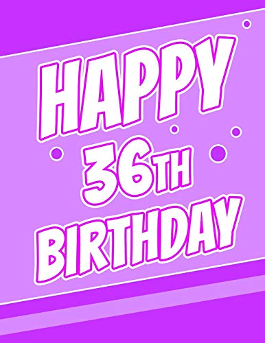 Happy 36th Birthday Discreet Internet Website Password Journal Or Organizer Gifts For 36