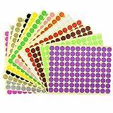 76 mm 3 Pollici Rotondo Chiaro Trasparente Cerchio Punto Adesivi 500 Etichette su Rotolo