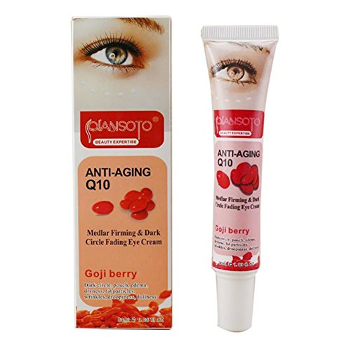 Crema para los ojos(30g) Red GOJI Eye Cream versión inglesa, Formulada para Elevar Rápida y Eficazmente los Párpados Caídos Antiarrugas hidratante con Elastina, Bolsas y Enrojecimiento