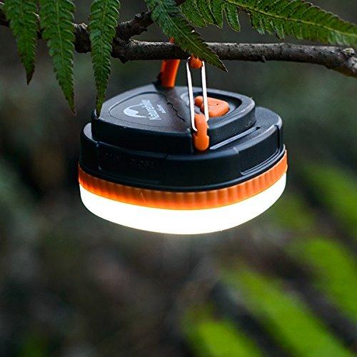 Hysenm Éclairage Randonnée Lampe Clic Étanche Aimant Suspension Led Multifonction Puissant Portable Tente Bivouac Camping Cyclisme Vélo Pêche