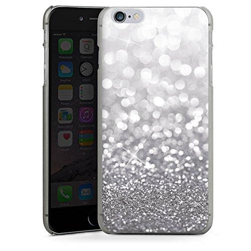 Apple iPhone 6s Tasche Hülle Flip Case Silber Glitzer Glitter Hard Case anthrazit-klar