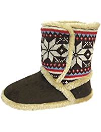 9013cf96249 Ladies Girls Children s Cooler Slipper Boots Nordic Winter Ankle Slippers  Fur (UK 3-4
