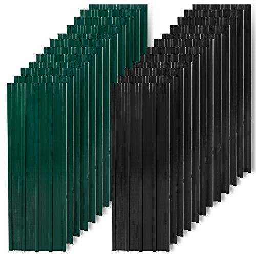 12 Stück Trapezbleche, Profilblech, Metallblech, Dachblech, Stahlblech, Dach, Platten (Anthrazit)