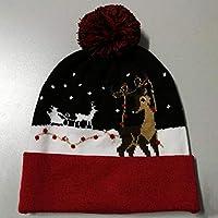 LED Leuchten Hut Mütze Stricken, Weihnachten LED Knit Cap, Bunte LED Xmas Weihnachten Hut Mütze, Winter Schnee Hut Pullover Beanie Cap für Männer Frauen Indoor und Outdoor, Festival, Feiertag, Feier,