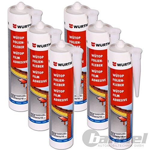Preisvergleich Produktbild [€21,45/1L] 6x Würth Folienkleber Kleber WÜTOP ® 310ml Dichtkleber Dampfsperre