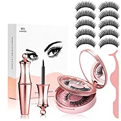 Magnetische Wimpern, Magnetic Eyeliner, 3D Künstliche Magnetische Wimpern, 5 Magnete Wimpern Mit Wasserdichtem Langlebigem Magnetic Eyeliner, Wiederverwendbare Falsche Magnetic Eyelashes