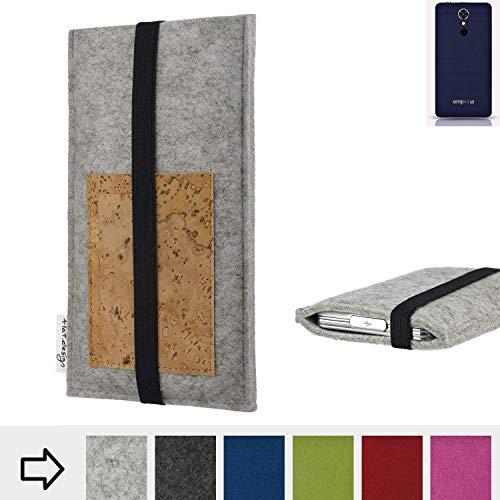 flat.design Handy Hülle Sintra für Emporia emporiaSMART.2 maßgefertigte Handytasche Filz Tasche Schutz Case Kartenfach Kork