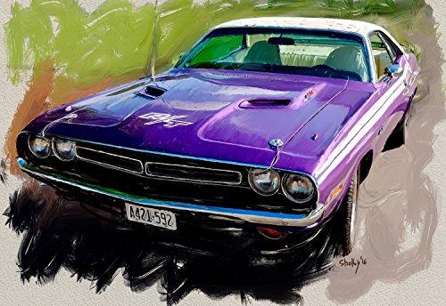 dodge-challenger-r-t-1971-peinture-numerique-sur-toile-30x40-cm