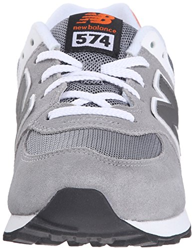 New Balance Unisex-Kinder K_574v1d Low-Top Grau (Grey/Orange)