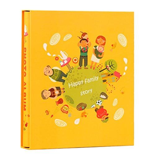 al Retro Album, Gedächtnisfotoalbum der Familie 8x6 mit hoher Kapazität kann 200 Fotos gespeichert Werden Fotos Tourismus lieben (Color : LO-3) ()