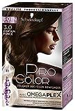 Schwarzkopf - Pro Color - Coloration Permanente Cheveux - Anti-Casse - Châtain Foncé 3.0