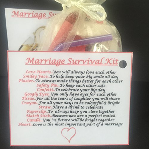 Bagsoflove Gifts Marriage Survival Kit - Unique Gift For The Married ...