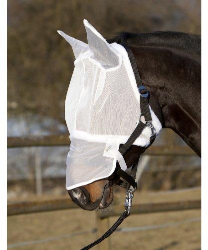 Fliegennetz-Gesichtsmaske, weiß Full