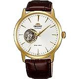 Orient Herren 40mm Automatikwerk Braun Leder Armband Mineral Glas Uhr FDB08003W0