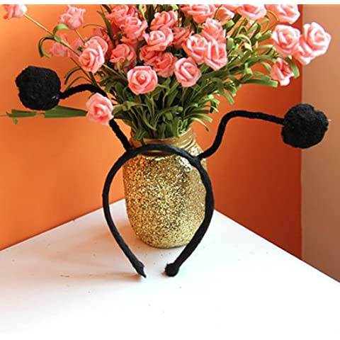 Il grazioso api coccinelle formiche tentacoli hairbands card bambini ,15*4cm,4 compleanno a (Bunny Velo)