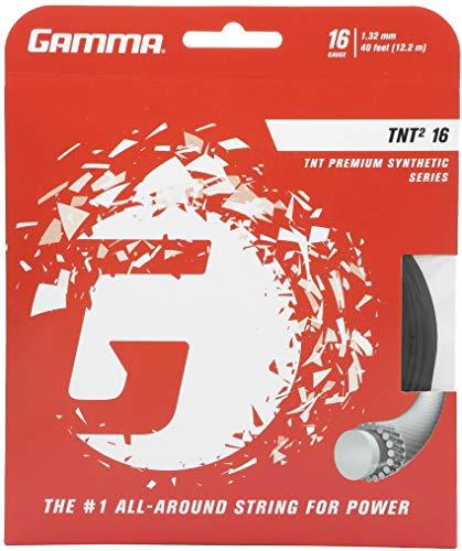 Gamma TNT216g Tennis Saite, Unisex, schwarz, 16G - Single Set (40 Feet)