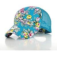 Unisex para Gorra De Beisbol,Malla De La Flor Ajustable Cielo Azul Azul Flor Silenciosa Sombrero Moda Verano Transpirable Gorra De La Personalidad del Sol del Sombrero De Los Deportes De Secado Rápi