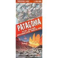 Patagonia Trekking Mappa topografica 1:160.000 - Fitz Roy, Cerro Torre, Perito Moreni Glacier, Torres del Paine