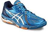 ASICS Herren Gel-Volley Elite 3 B500N-4301 Sneaker, Mehrfarbig (White, Blue 001), 40.5 EU