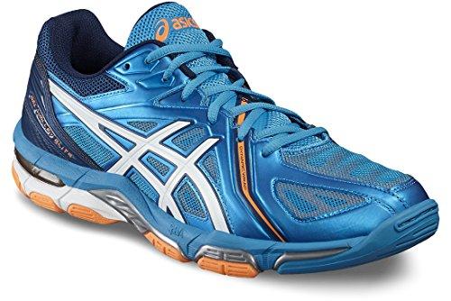 ASICS Gel-Volley Elite 3 B500N-4301, Scape per Sport Outdoor Unisex-Adulto, Multicolore (White, Blue #0000001), 40 EU