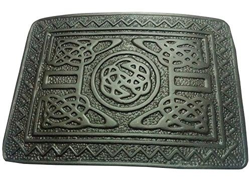 Tartan City Herren Kilt Gürtelschnalle Swirl Celtic schwarz Finish/Highland Kilt Gürtelschnalle Highland Swirl