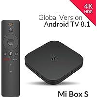 Xiaomi Mi Box S (Version UE) Lecteur multimédia 4K Ultra HD avec télécommande Google Assistant, Bluetooth, HDR 4K, Audio Dolby, DTS HD, Android 8.1 Noir